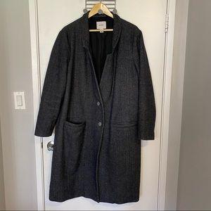 Old Navy Oversized Soft-Brushed Tweed Coat